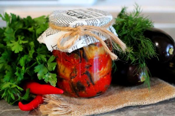 рецепт консервированных рулетиков из баклажанов