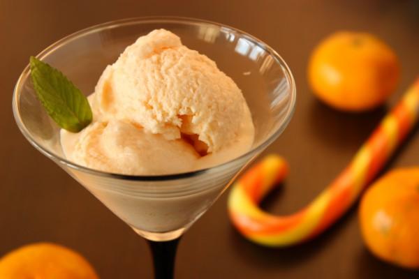 Мандариновое мороженое со сгущенкой