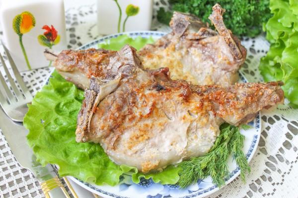 Свиной антрекот запеченный в горчице