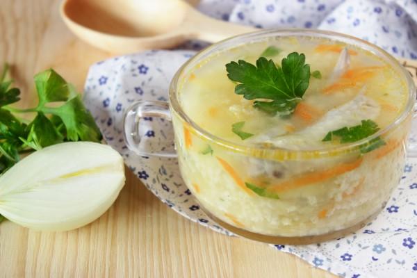 Пшенный суп с курицей