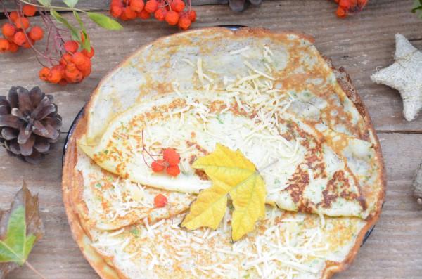 Сырные блинчики с зеленью: рецепт с фото, секреты приготовления