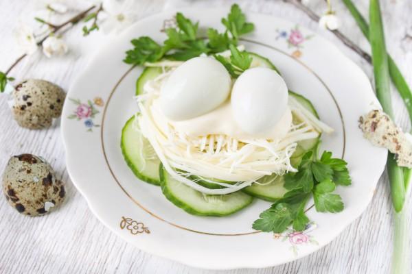 Салат Сырное гнездо