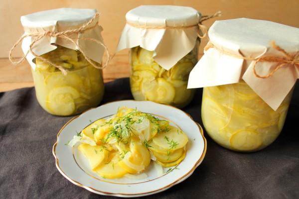 Салат из кабачков и лука на зиму без стерилизации