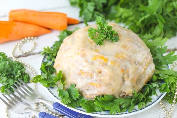Закуска из моркови и печеночного паштета
