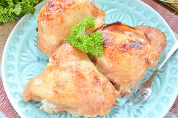 Куриные бедра в медово-горчичном маринаде