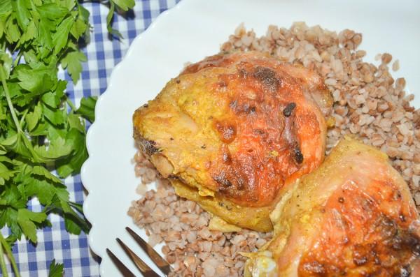 Курица карри со сметаной в духовке