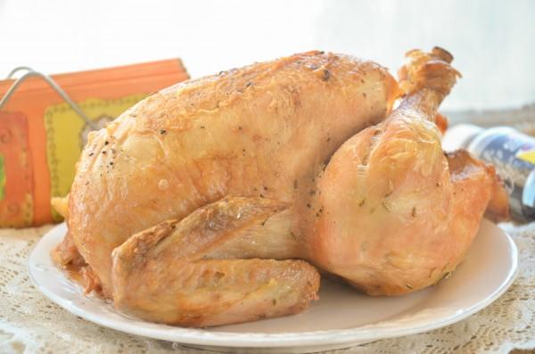 Курица, запеченная с грейпфрутом и чесноком