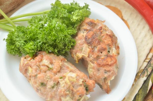 Люля-кебаб из курицы в духовке
