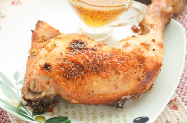 Окорочка в медово-горчичном маринаде