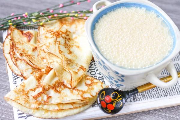 Тесто для тонких блинов на молоке