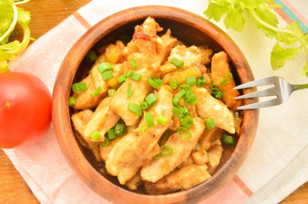 Стир-фрай из курицы