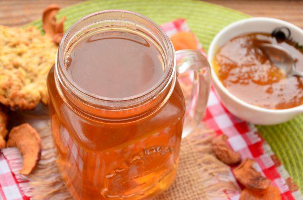 Яблочный чай с шалфеем и медом