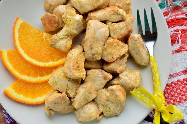 Куриное филе, маринованное в апельсиновом соусе