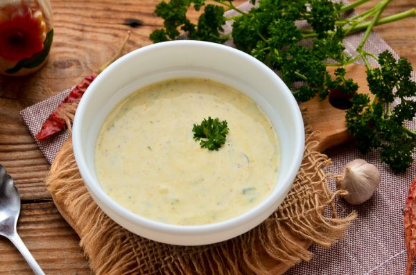 Кефирно-сметанный соус для шаурмы