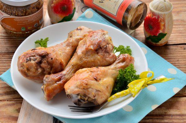 Куриные голени в майонезе, запеченные в пакете