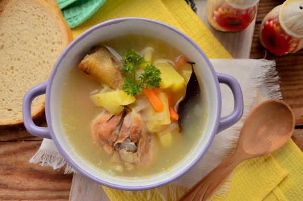 Пшеничный суп на курином бульоне