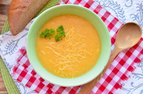 Картофельный суп-пюре с сыром