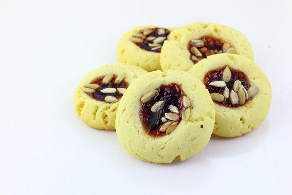 Печенье с повидлом и семечками