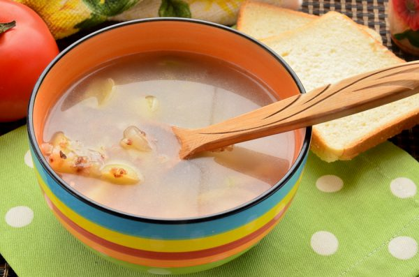 Постный гречневый суп