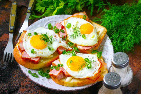 Бутерброды с ветчиной и яйцом