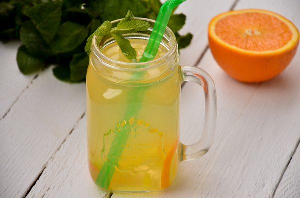 Лимонад с апельсином, лимоном и мятой