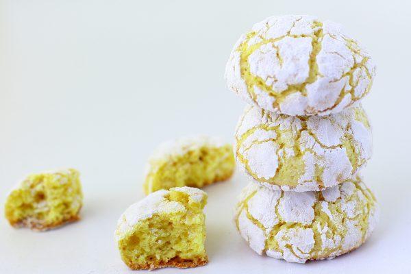 Лимонное печенье с творогом