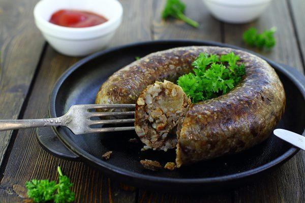 Печеночная колбаса с гречкой