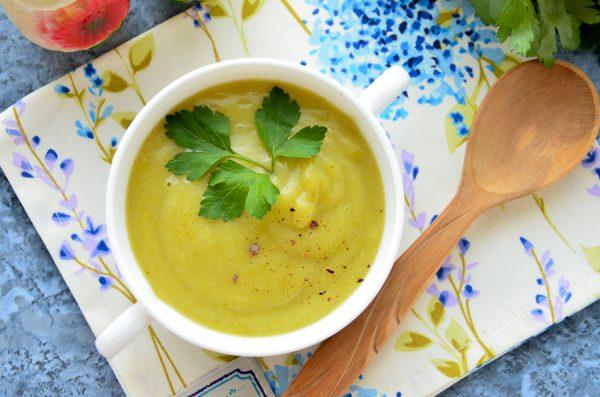 Суп-пюре из кабачков и брокколи