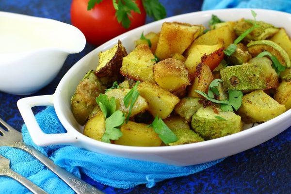 Картошка с кабачками в духовке