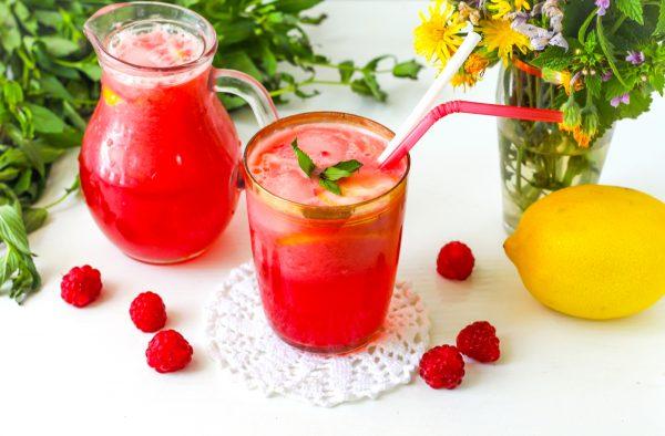Лимонад из малины