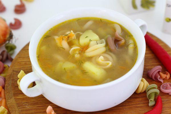 Суп с макаронами и картошкой