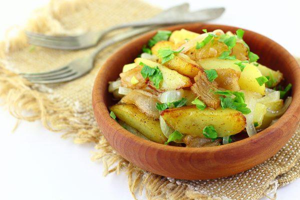 Картошка, жаренная с салом