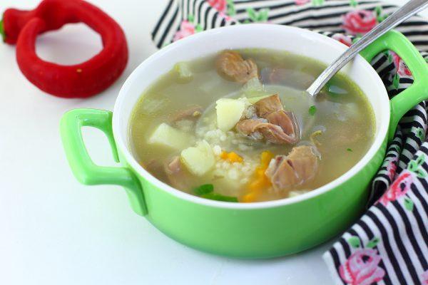 Суп из куриных желудков