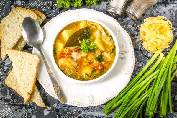 Суп с картофелем и лапшой