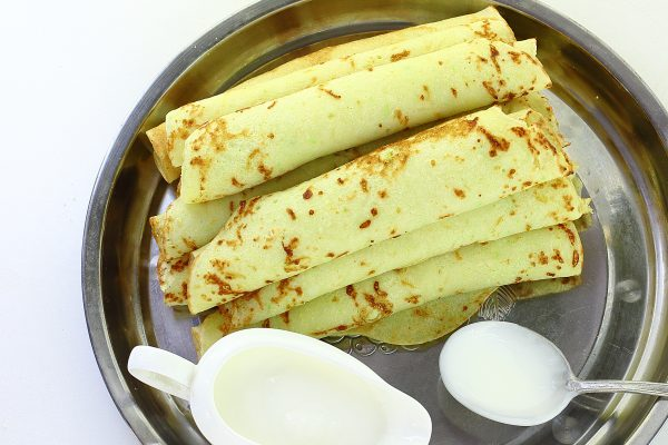 Кабачковые блины с сыром