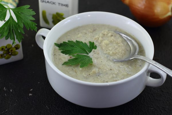 Суп-пюре с грибами и курицей
