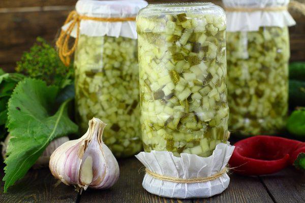 Заготовка огурцов для салатов на зиму