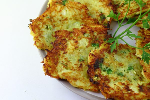 Картофельные оладьи с сыром