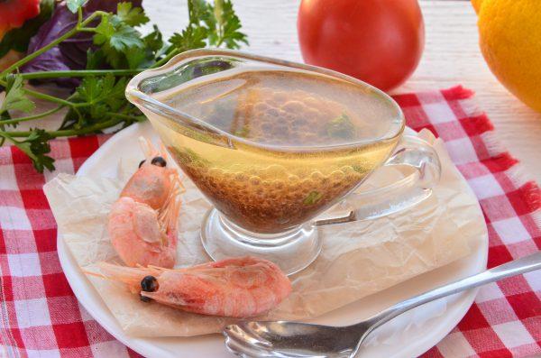 Заправка для салата с креветками