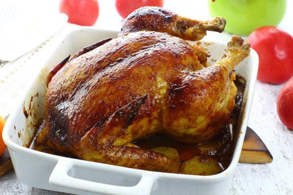 Курица, запеченная с медом и горчицей