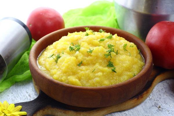Пюре из картофеля и тыквы
