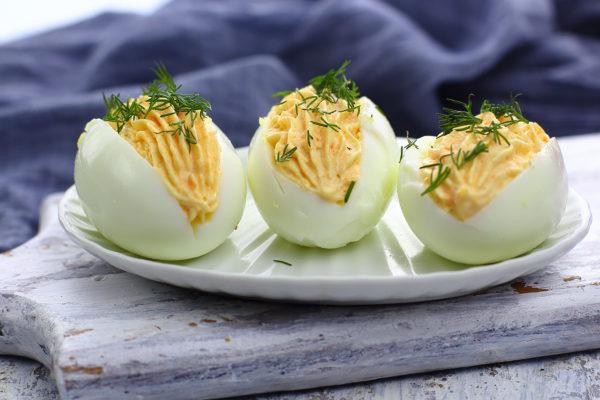 Яйца, фаршированные морковью