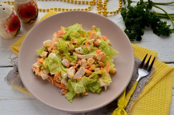 Салат с арахисом и курицей